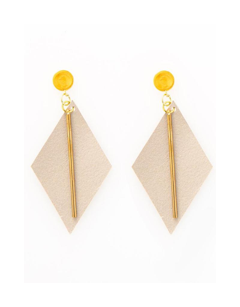 Leather Diamond Earrings