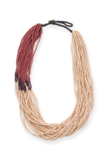 Seed Bead Color Block Necklace