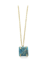 Apatite Stone Drop Necklace