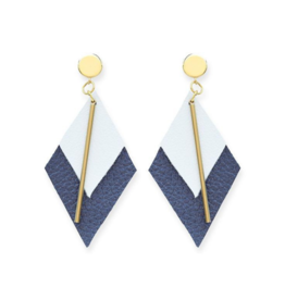 Diamond Leather Earrings