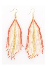 Blush Ombre Gold Luxe Stripe Fringe Earring