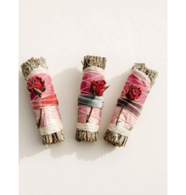 Blue Sage + Roses Smudge Stick Fall Color Variations