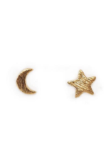 Moon & Star Stud Earrings