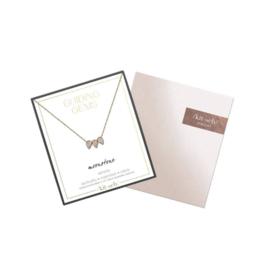 Kitsch Guiding Gems Pear Trio Necklace
