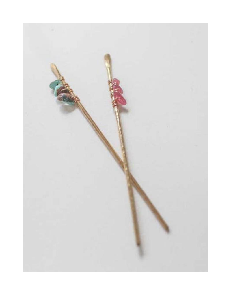 Hair Sticks in Peridot