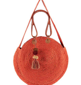 Jute Bucket Bag in Rust