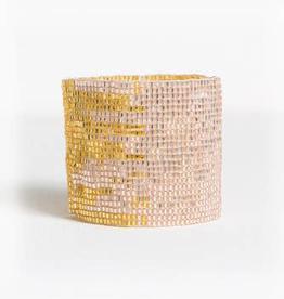 Blush and Gold Stretch Bracelet