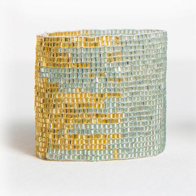 Sky and Gold Stretch Bracelet