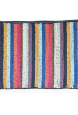 Multi Mini Stripe Seed Bead Clutch
