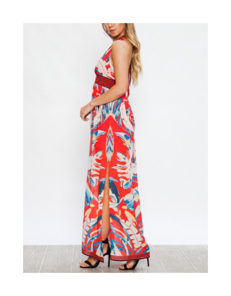 Fiera Halter Neck Maxi Dress