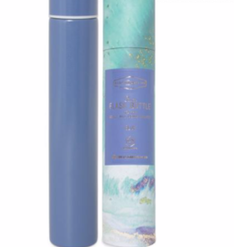 Slim Flask Bottle - Blue Teal Marbled