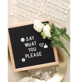 DesignworksBlack Framed Letter Board