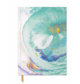 DesignworksTeal Marbled Cloth Cover Book