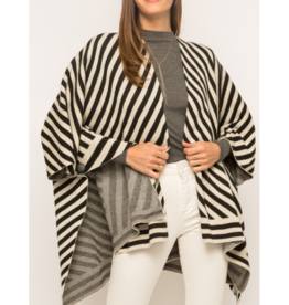 Misti Striped Poncho
