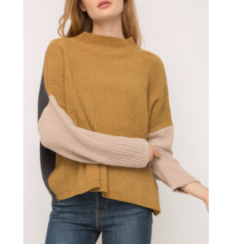 Maple Color Block Sweater