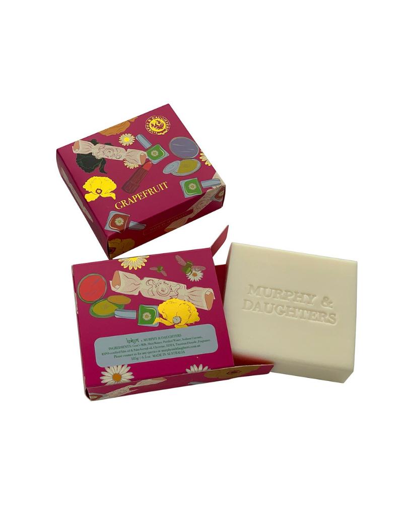 Rectangular Boxed Soap - Pink Grapefruit