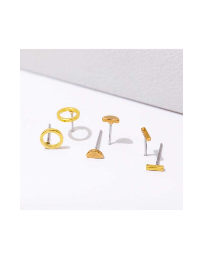 Circle Post Earring Pack