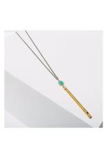 Gemstone Whistle Drop Necklace