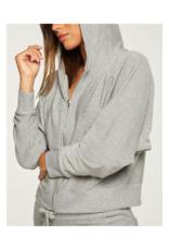 Cozy Knit Batwing Zip Up Hoodie Sweater