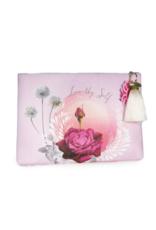 Lavender Rose Large Tassel Pouch