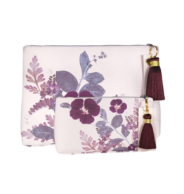 Plum Leaves Small Tassel Pouch