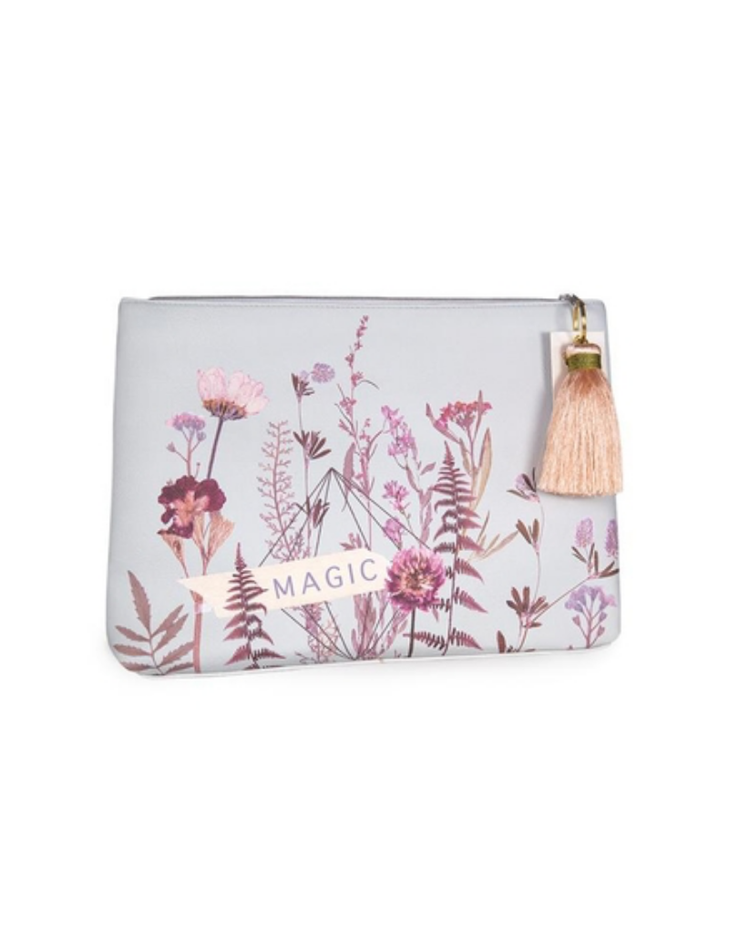 Flower Bed Large Tassel Pouch