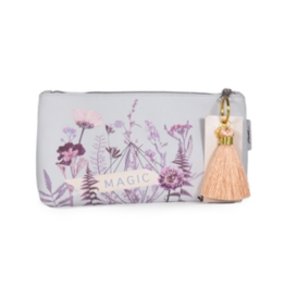 Flower Bed Small Tassel Pouch