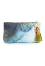 Catalina Watercolor Small Tassel Pouch