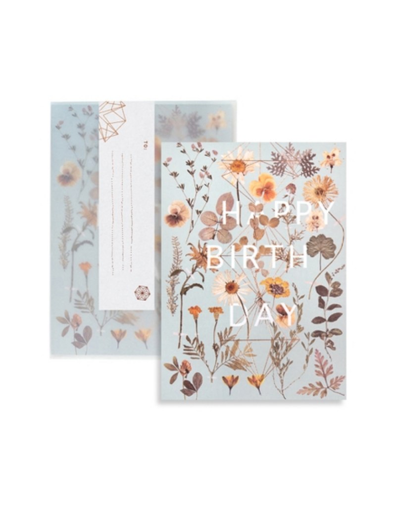 Golden Garden Birthday Greeting Card