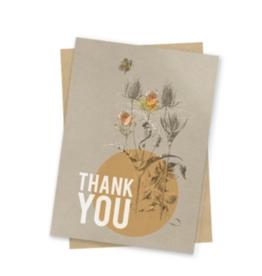 Daffodil Thanks Mini Card