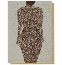 Living Woman Greeting Card