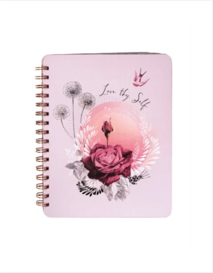 Lavender Rose Spiral Notebook