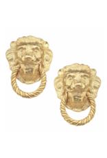 Handcast Lion Head Studs