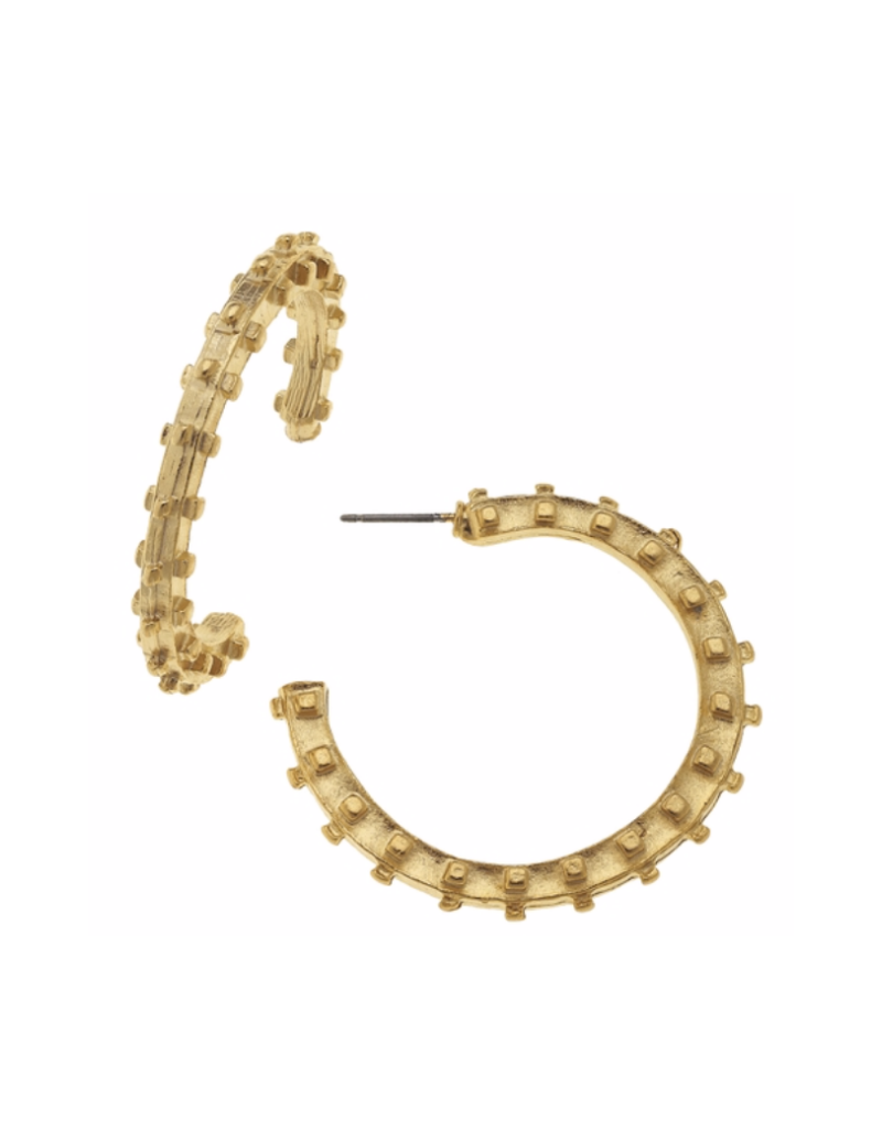 Dotted Hoop Earrings