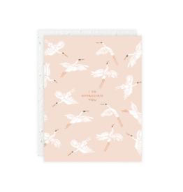 Flying Cranes Card