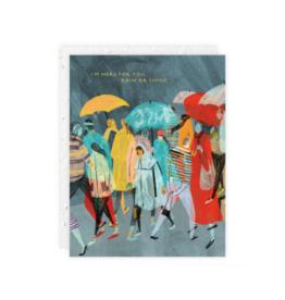 Rainy Day Crowd Seedlings Card