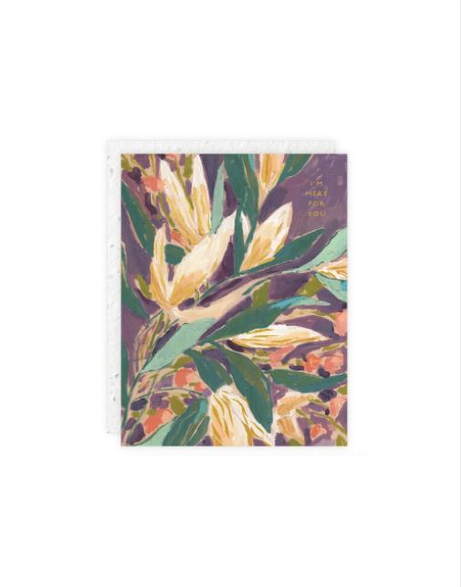 Purple Mini Floral Card