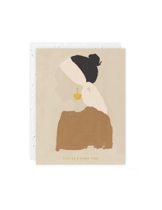 A Rare Find Girl Card