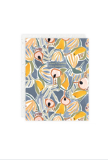 Blue Yellow Floral Card