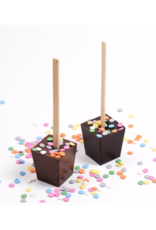 Sweet + Savory Happy Birthday Hot Chocolate on a Stick
