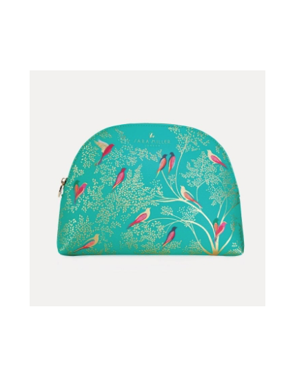 Sara Miller Large Green Cosmetic Bag