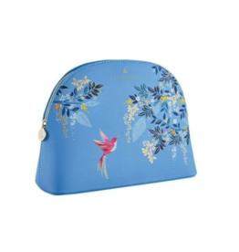 Sara Miller Large Blue Birds Cosmetic Bag