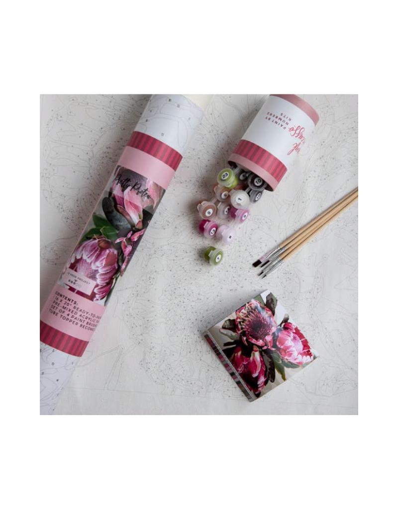 Pink Picasso KitsPretty Protea Printed Canvas
