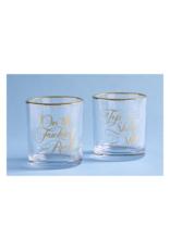 Two Damn Classy Rocks Glasses
