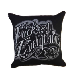 Fuck Everything Lettering Pillow