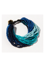 Blue Ombre Multi Layer Seed Bead Bracelet