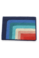 Blue to Red Rainbow Beaded Clutch