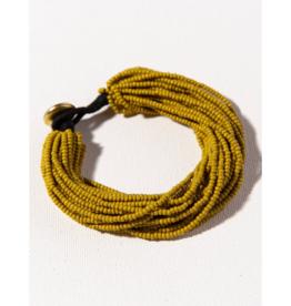 Citron Multi Layer Seed Bead Bracelet