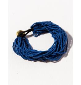 Lapis Multi Layer Seed Bead Bracelet