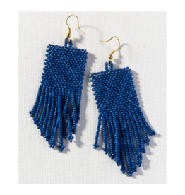 Lapis Seed Bead Solid Earring